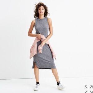 Madewell | Ribbed Mock Neck Midi Wool Dress XXS